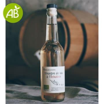 Vinaigre de vin blanc à l'échalote bio