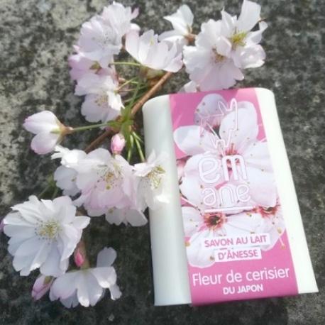 SAVON AU LAIT D'ÂNESSE Fleur de cerisier